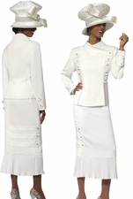 Womens Double Breasted Ivory First Lady Church Suit Donna Vinci 11230