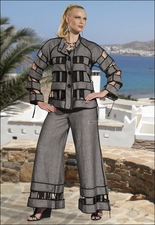 Womens High Fashion Designer Set in Grey and Black from Donna 14116