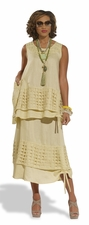 Womens Linen Set in Canary by Donna by Donna Vinci 14198