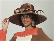 Womens Mink Colored Simply Elegant Church Hat by Donna Vinci H2129