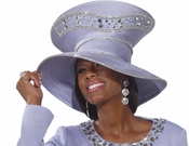 Womens Special Occasion Blue Rhinestone Hat by Donna Vinci H2159