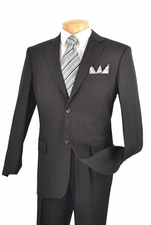 Wool-Feel 3 Piece Men's Suit with Classic Pinstripes (S1214)