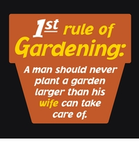 1st Rule of Gardening Apron