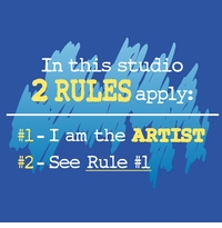 2 Rules Artist Apron