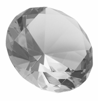 3.15 Inch Diamond Paperweight 80mm