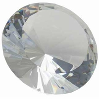 8 Inch Diamond Paperweight, with Stand 200mm