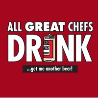 All Great Chefs Drink Apron