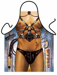 BDSM Slave Man Funny Novelty Apron