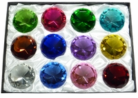 Birthstone Diamond 3.25 Inch (12 Piece Set) 80mm