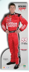 Carl Edwards Office Depot NASCAR Cardboard Cutout Life Size Standup