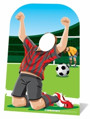 Child Football (Soccer) Cardboard Cutout Life Size Stand-In