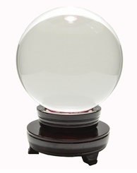 """Clear Crystal Ball Shaped Paperweight, 7.87"""" Wide (200 mm)"""
