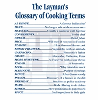 Cooking Terms apron