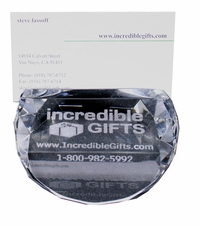 Custom Laser Engraved Glass Business Card or Place Card Holders (12 Pieces)