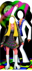 Disco Couple Cardboard Cutout Life Size Stand-in
