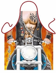Free Rider Motorcycle Funny Apron