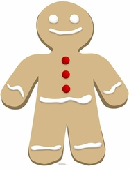 Ginger Bread Man Cardboard Cutout Life Size Standup