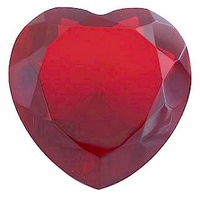 Glass Heart Shaped Paperweight, 2.25 Inches in Diameter, 1.25 Inches Tall