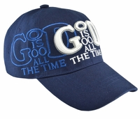 God Is Good All The Time Blue Baseball Hat