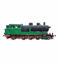 Green and Red Steam Locomotive Cardboard Cutout Life Size Standup