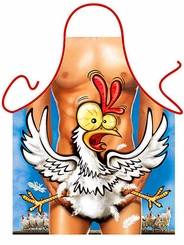Happy Chicken Funny Apron