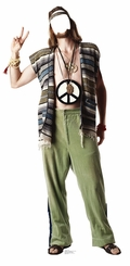 Hippie Cardboard Cutout Life Size Stand-In