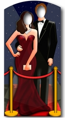 Hollywood Couple Cardboard Cutout Life Size Stand-In