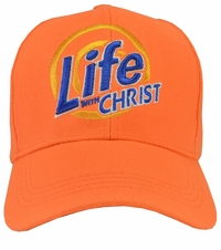 Life With Christ Orange Hat
