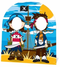 Little Pirates Cardboard Cutout Life Size Stand-In
