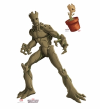 Marvel's Groot & Little Groot � Animated Guardians of the Galaxy Cardboard Cutout Life Size Standup