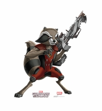 Marvel's Rocket Raccoon � Animated Guardians of the Galaxy Cardboard Cutout Life Size Standup