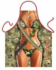 Military Woman Fummy Novelty Apron