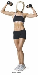 Muscle Women Stand-In Cardboard Cutout Life Size Standup