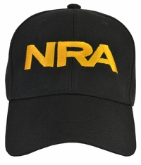 NRA Black Hat Gold Embroidered