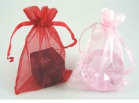 One Dozen 7.5 Inch x 10 Inch Organza Favor Bags for Diamond Shaped Paperweight & Other Gifts