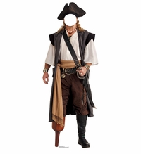Pirate Peg Leg Stand-in Cardboard Cutout Life Size Standup