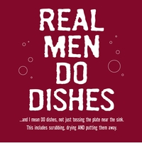Real Men Do Dishes Apron