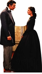 "Rhett Butler, Clarke Gable, and Scarlett O'Hara, Vivien Leigh, from ""Gone With The Wind"" Cardboard Cutout Life Size Standup."