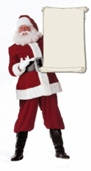 Santa with a Sign Cardboard Cutout Life Size Standup