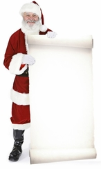 Santa with Large Sign Board Cardboard Cutout Life Size Standup