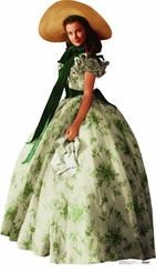 Scarlett O'Hara, Vivien Leigh, from Gone with the Wind in Green Dress Cardboard Cutout Life Size Standup