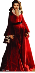 Scarlett O'Hara, Vivien Leigh, from Gone with the Wind in Red Dress Cardboard Cutout Life Size Standup
