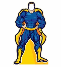 Super Hero Stand-in Cardboard Cutout Life Size Standup
