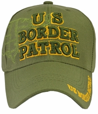 U.S. Border Patrol Hat Green with Map