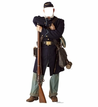 Union Civil War Soldier Stand-in Cardboard Cutout Life Size Standup