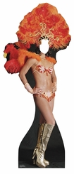 Vegas Showgirl Cardboard Standup Life Size Stand-In