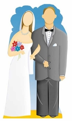 Wedding Couple Stand-In Cardboard Cutout Life Size Standup