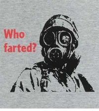 Who Farted, Gas Mask T-Shirt