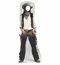 Wild West Cowgirl Cardboard Cutout Life Size Standin