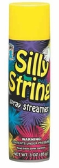 Yellow Silly String 3oz Can Made in the USA